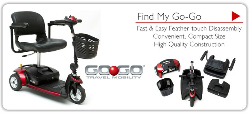 Rental Power Scooter GoGo Elite Traveller 3 Wheel