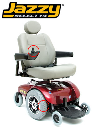 Rental Power Wheelchair Heavy Duty Jazzy Hd14